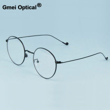 Gmei Optical Fashionable Urltra-Light Alloy Eyewear for Women & Men Myopia Reading Eyeglasses Frames Round Spectacles A1507(China)