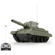 Original HENG LONG NO.3886 27MHz 1/30 Fire Ball Bullet Cannonball Shooting RC Battle Tank(China)