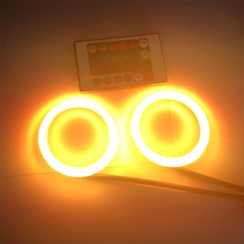 2x 80MM Angel Eyes 2835 SMD Halo Ring Car Auto Led Light RGB Daytime Running Lights DRL Daylights 80MM Led Halo Rings Kit<br>