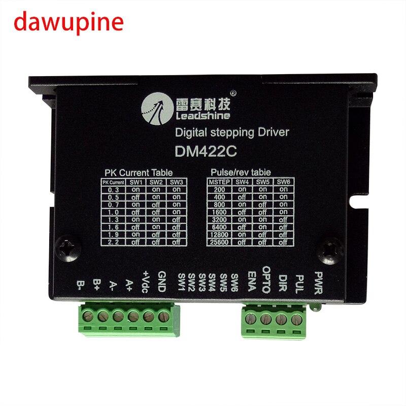 dawupine DM422 Stepper Motor Controller Leadshine 2-phase Digital Nema14 15 17 Driver 12-40 VDC Max. 2.2A 28 35 42 Series Motor<br>