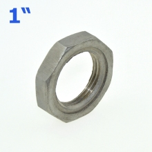 "3Pcs 1"" / DN25 Thread Nuts Metal Lock Nut 30mm Inner Dia. O-Ring Groove SS Pipe Fittings 304SS Stainless Steel"