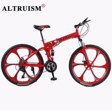 Altruism 21 Speed Mountain Bike Complete A1 Folding Bicycle 26 Inch Black Supplier Bikes Magnesium Alloy Wheels Road Bikes(China)