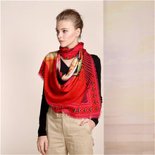 2dd72f50f550 Rouge couleur 100% Laine Écharpe femmes, écharpes d hiver pour dame  élégante, Infinity châle pour chaud et décoration utiliser, .