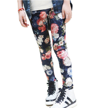 Tribros  Autumn Girls Baby Leggings Children Pants Toddler Classic Flower Printed Kids Lovely Trousers Girls Pencil Pants