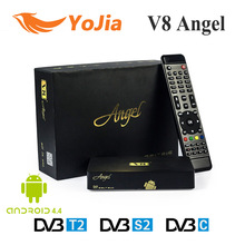 DVB-S2&T2/C V8 Angel Satellite Receiver Terrestrial Cable Combo Receiver Amlogic S805 Android TV BOX Tuner IPTV Streaming Online