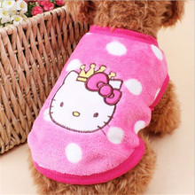 Hello kitty Bear Rabbit Cute Cartoon  Characeter Shape Clothing for Pet Dog New Clothes for Winter