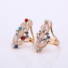 2016 Retro Oval Natural Stone Party Rings Vintage Unique Opal Rings Women's Accessories Jewelry Female Retro Boho Wedding Rings