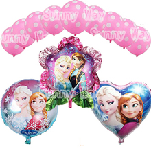 12pcs/Lot, Free Shipping,New Arrival Frozen Snow White Queen Girl Princess balloon, Baby Shower Bithday party/wedding decoration