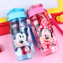 New Kids Drinking Cartoon Water Bottles BPA Free Cartoon Plastic Straw Bottle children Bottle Children kettle sports bottle(China)