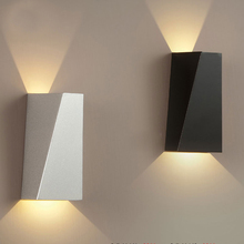 2015 New Modern Lampara Led Pared Iron Reading Light Headboard White/Black Indoor Wall Lamp Bedroom Bathroom Stairs Mirror Light(China)