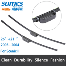"Wiper blades for Renault Scenic II ( 2003 -2004 ) 26""+21"" fit slide wiper arms only"