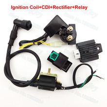 Ignition Coil CDI Regulator Rectifier Relay For 50cc 70cc 90cc 110 cc Chinese ATV Quad 4 Wheeler