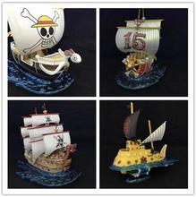 One Piece Ship Toy New Model Going Merry Thousand Sunny Trafalgar Law Red Hair Pirates Boat Ship Model Kids Christmas Gifts Toys(China)