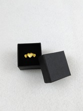 100PCS/lot 4*4*3cm Fashion High Quality Paper Ring Boxes and used for Earrings/Pendant small Gift Box(China)