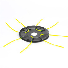 Feed Trimmer Head Replacement with 4 Free Straw Trimmer Lines Lawn Mower Accessories Iron Grass Cutting Head Fast Power Cutting