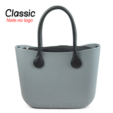 New NO LOGO Classic Big Size O bag style Bag Canvas Insert Inner and leather Handles Obag women Bag(China)