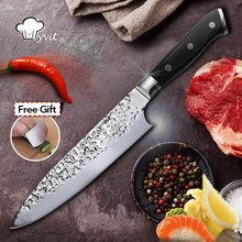 Chef Knife Kitchen Knives Razor Sharp 7Cr17 8 Inch Stainless Steel Sushi Knife Meat Cutter Pakka Wood Handle Top Grade