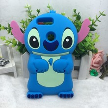 Fashion 3D Cute Cartoon stitch Soft Silicon Cover Back Rubber Phone Case For Huawei Honor 8 eight(China)