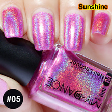 New 6ML Metallics Laser Holographic Holo Glitter Nail Polish Varnish Nude Color Hologram Effect Polish Nail Glitter Decoration(China)