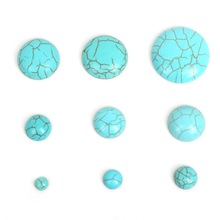 6-25mm half round flat back Synthetic Blue/White Howlite Stone Dome Cabochons Beads Findings for DIY Jewelry Making