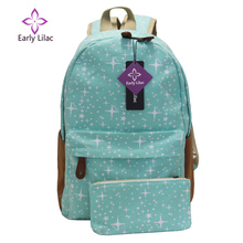 Early Lilac Luggage & Bags New Cute Girl Star Pattern Printing Backpack Traveling practical Backpack Unique Fashion Canvas Bag