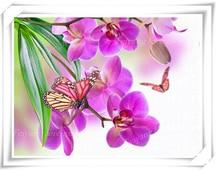 5D поделки алмазов картина кристалл красивый цветок фиолетовый Ирис 3d вышивки крестом декоративная Вышивка круглый горный хрусталь крючком(China)