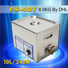 Ultrasonic cleaner 10L 240W PS-40T 110V 220V with timer dental clinics Circuit borar free basket  for Hardware accessories