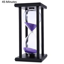 45 Minutes Hourglass Sand Timer For Kitchen School Modern Wooden Hour Glass Sandglass Sand Clock Tea Timers Home Decoration Gift(China)