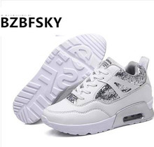 Summer White High Heel Women Krasovki Ladies Platform Shoes Female Gumshoe Basket Femme 2017 Tenis Feminino Chaussure Femme(China)