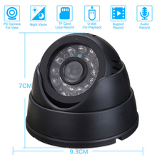 CCTV DVR Recorder Night Vision Dome Camera with IR CCTV DVR Loop /sounding Recorder Security Camera USB Support 32GB TF Card(China)