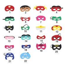 3 Pcs Mask Halloween Christmas Anime Superhero Kids Men Women Masquerade Mask Party Supplies Birthday Party Decorations(China)