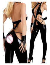 Hot Selling F0302 Catwoman Feline Catsuit Teddy Ladies Pole Dancing Clothes Women Sexy Lingerie Open Underwear Club Costume
