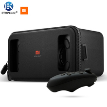 Xiaomi mi VR box 3D Virtual Reality Glasses Cardboard MI VR apply For iPhone For Samsung 4.7~5.7 Smartphone + Mini Gamepad 5.0