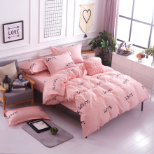 hotel comforter set love you style of king queen Singl size 4pc / 3pc bedding sets bedclothes quilt cover bed sheet pillowcases