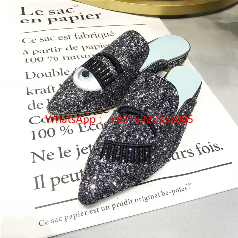 Detail Feedback Questions about Eyes Lips Eyelashes Flat Slippers ... c9b699748351