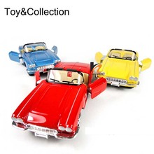 Antique Decor Collection Hobbies 1:32 Convertibles Classic Model Cars Mini Pull Back Musical Flashing Diecast Car Toys Vehicles