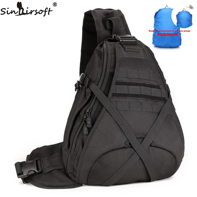2017 New SINAIRSOFT 14 inches Laptop backpacks Single Sling Molle Waterproof Backpack Shoulder Rucksack backpack Bags LY0080<br>