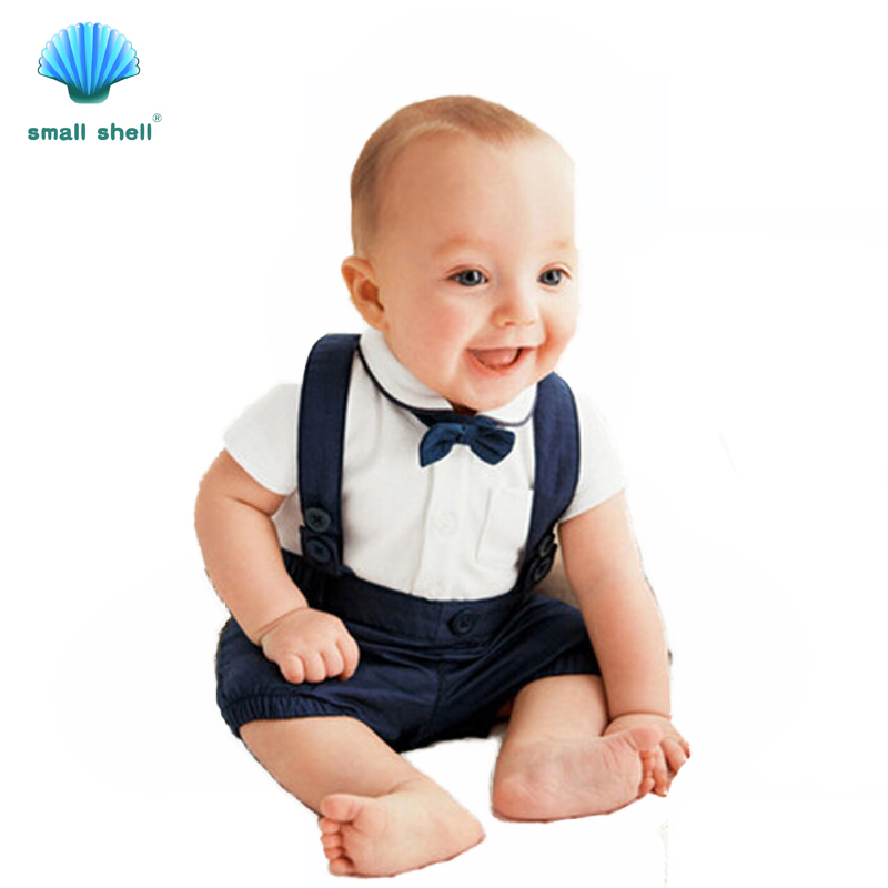 Small shell 2017 Newborn Infant Baby Boy Clothes Gentleman wind little man 0-24M Overalls Creepers Clothing Children F0044<br><br>Aliexpress