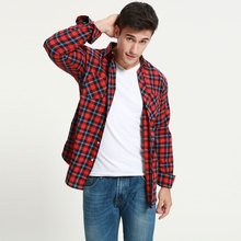 Buy JeeToo Plaid Mens Shirt Long Sleeve Slim Fit Flannel Men's Shirt Plaid Autumn Winter Mens Dress Shirts Casual Chemise Homme 5XL for $13.83 in AliExpress store