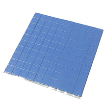 100 pcs10mm*10mm*1mm 100 Thermal Pad GPU CPU Heatsink Cooling Conductive Silicone Pad Brand New and high quality
