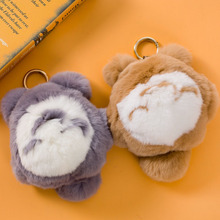 18cm High Quality Totoro Plush Toy Mini Totoro Small Pendant Bag Decoration Doll Car Rabbit Fur KeyChain Gift For Girlfriend