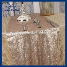 RU009A1 Custom made hot sale cheap Wedding sequence 12''*108'' champagne sequin table runner