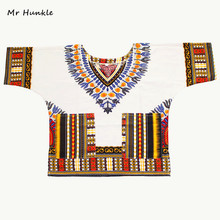 Mr Hunkle Children's New Fashion Design Traditional African Clothing Print Dashiki For Kids(China)