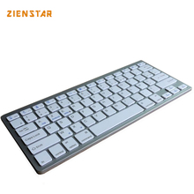Zienstar AZERTY French  Language Ultra slim Wireless Keyboard Bluetooth 3.0 for ipad/Iphone/Macbook/PC computer/Android tablet