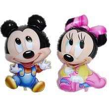 1PC Mickey Minnie inflatable foil Balloons Minnie party supplies ball Birthday Party Decoration Kids toys wedding balloon