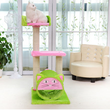 Cat Toy Scratching Wood Climbing Frame Cute Cat Toy Climbing Frame Cat Furniture Scratching Post for Fun