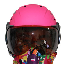 Dropshipping Free shipping new winter anti-fog helmet with visor ski snow helmet athletic product safety pink skating helmet