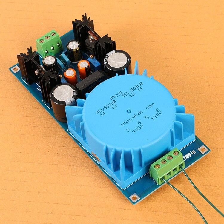 DIY suit LM317 / LM337 transformer output adjustable voltage regulator circuit board assembly<br>