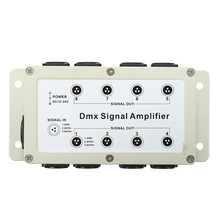 Data MultipleXer LED DMX512 Signal Amplifier Low Voltage DC12V DMX Splitter Distributor With Wire 8 Channel Output 1 Input