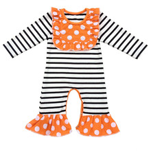 Black White Stripes Baby Long sleeve Rompers Cotton Newborn Girl/Boy Clothes Christmas/thanksgiving gift Baby Romper Jumpsuit(China)